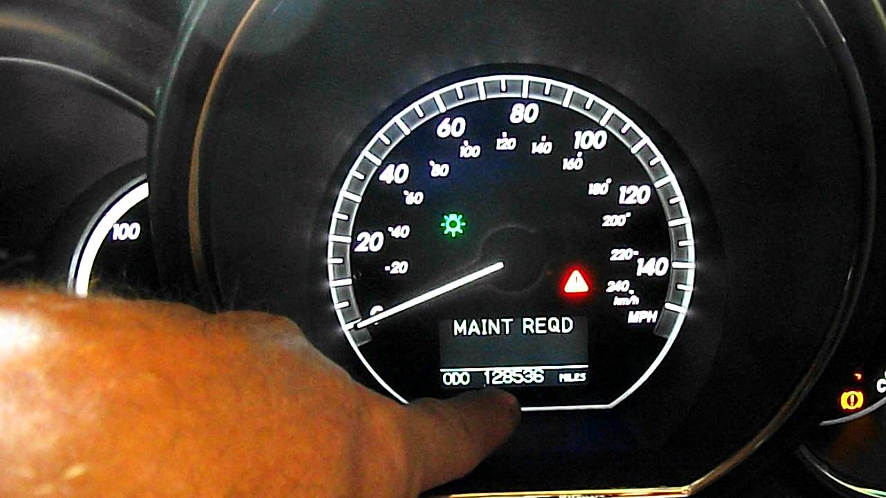 Lexus Dashboard Symbols Reset Maintenance Light On Rx400h Hybrid Youtube Premium
