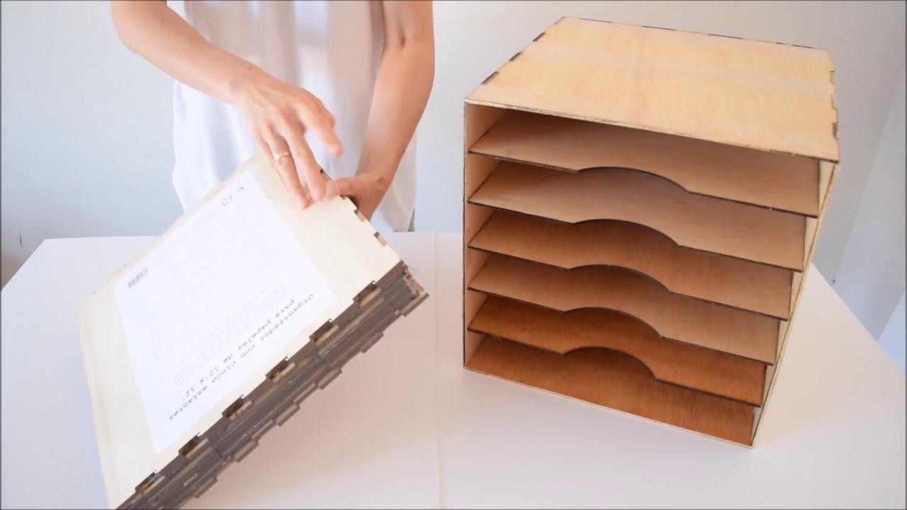 Mueble archivador u organizador para papeles de 30 5x30 5 cm de scrapbooking de kora projects - Imagenes de muebles ...