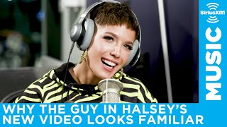 Halsey on the G-Eazy lookalike in her Without Me music video