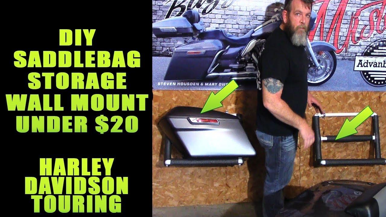 Diy Harley Davidson Saddlebag Wall Storage Rack Cheap