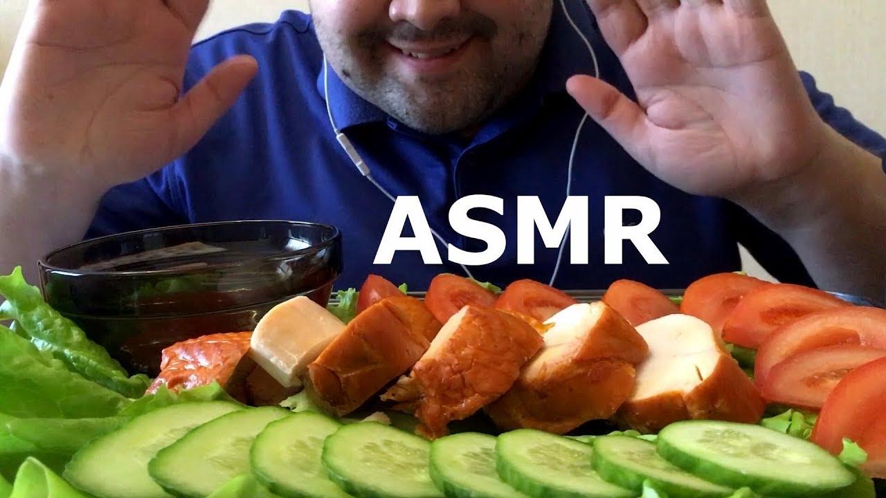 Asmr Eating Chicken Crispy Cucumber Chrunchy Eating Sounds No Talking