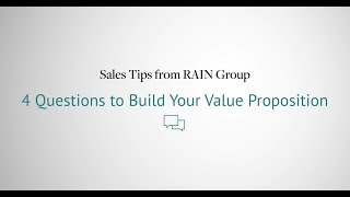 How To Build A Value Proposition