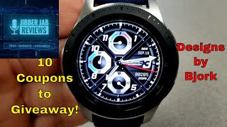 Samsung Galaxy Watch/Gear Watch Faces by Bjork - 10 Coupons - Jibber Jab Reviews!