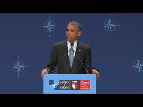NATO Summit Warsaw: President Obama Press Conference