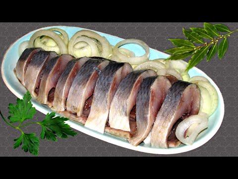 Соленая Селедка - Вкусный Рецепт