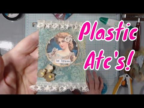 DIY Plastic ATC's - Recycling Plastic Into Art!
