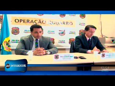 Suspeitos de participação em organização criminosa são levados para  o Paraná