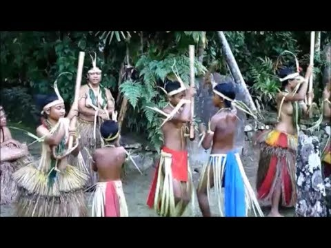 Yap Micronesia Traditional Stick Dance
