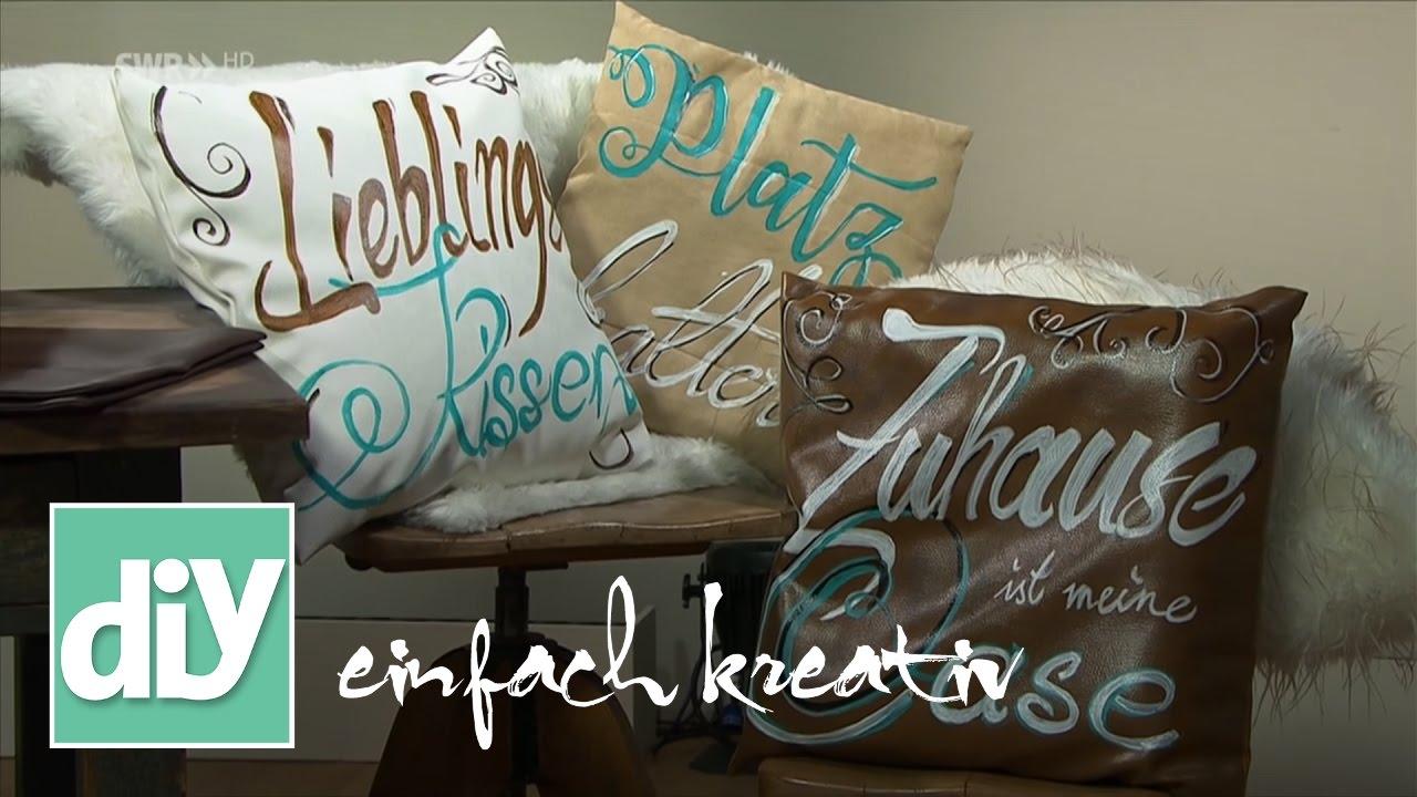 lederkissen upcyclen diy einfach kreativ youtube. Black Bedroom Furniture Sets. Home Design Ideas