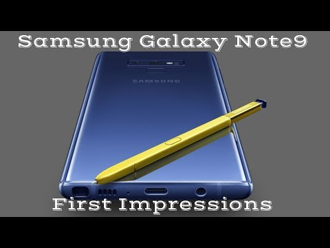 Samsung Galaxy Note 9 Initial Setup & First Impressions