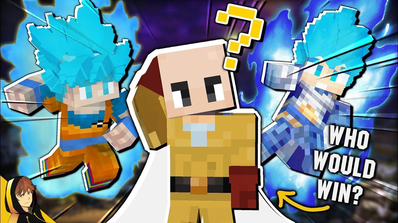 GOKU & VEGETA VS SAITAMA!?!   Minecraft - Who Would Win! [Forge 1.16.5]