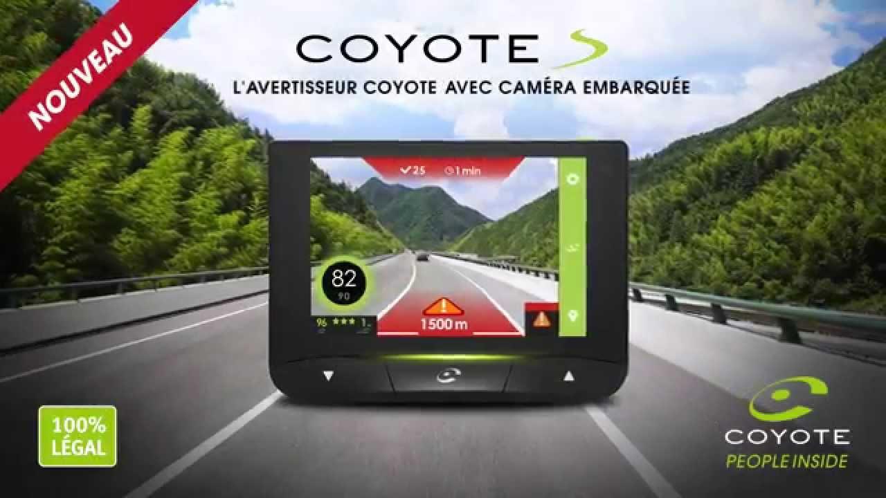 nouveau coyote s by traqueur l 39 avertisseur coyote avec cam ra embarqu e youtube. Black Bedroom Furniture Sets. Home Design Ideas