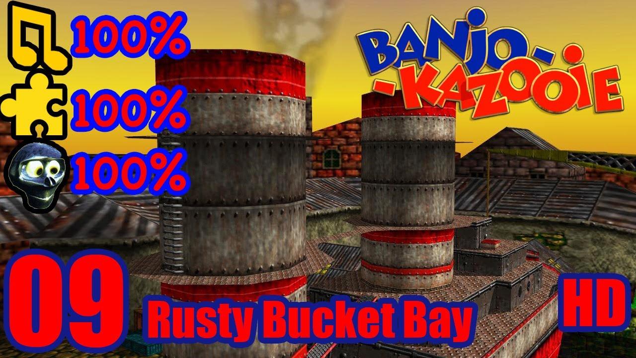 Banjo Kazooie HD 100 Walkthrough Part 9 Rusty Bucket