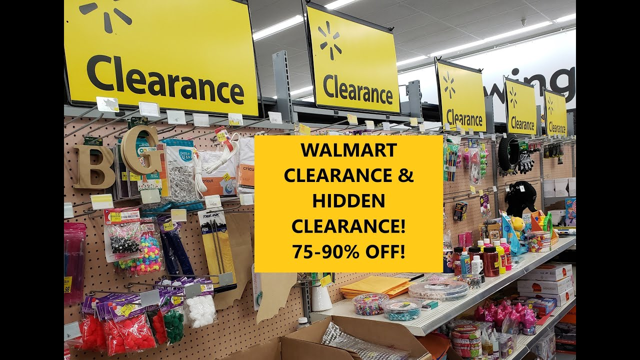 WALMART CLEARANCE & HIDDEN CLEARANCE! 75-90% OFF!!