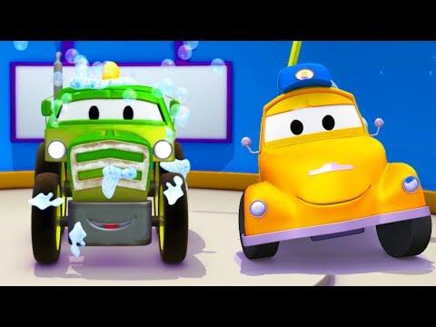 A lavagem de carros de Tom, o Guindaste é Ben o TRATOR | Desenhos animados crianças