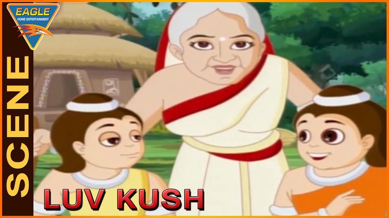 Vlamiki Maharshi Explaining To Seetha Devi About Luva and  Kusha | Lav Kush Animated Movie
