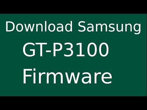 How To Download Samsung Galaxy TAB-2 7.0 GT-P3100 Stock Firmware (Flash File) For Update Device