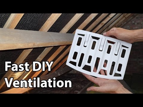 Roof Ventilation Lap Vents Simple Diy Loft Vents Youtube