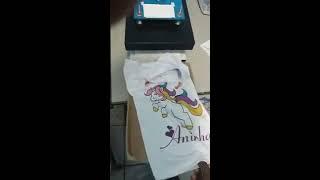 Estampando camisetas compacta print