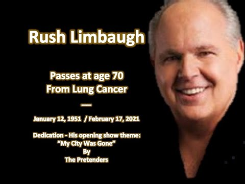 """In Memory of Rush Limbaugh""  Show Theme Song: My City Was Gone (We are Non Profit)"