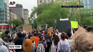 NY protest over Minneapolis man's death in custody