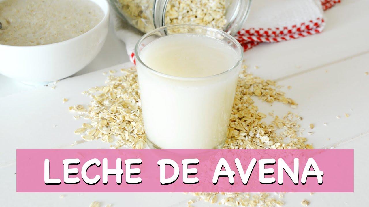 Como hacer leche de avena para bajar de peso