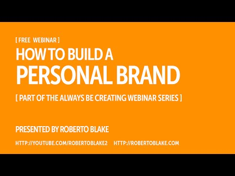 How to Build a Personal Brand [Free Webinar]
