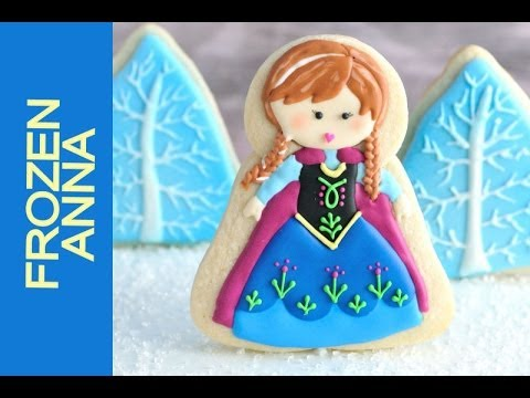 How To Make Frozen Anna Cookies Decorating With Royal Icing