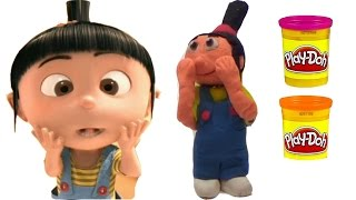 Despicable Me Agnes how to figure from playdough