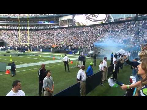 Seahawks Intro Loudest Crowd Ever!!