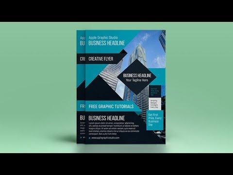 A4 Flyer Design Tutorial In Adobe Photoshop CC