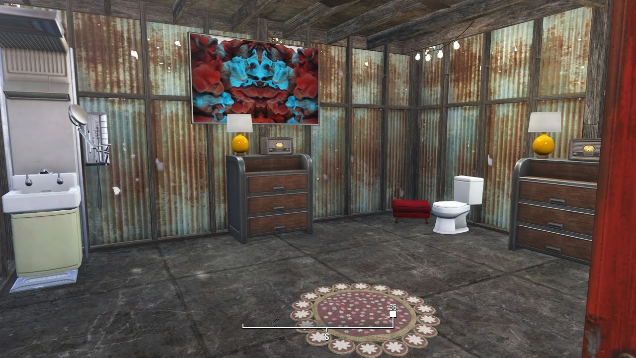 Fallout 4 How To Build A Bathroom For