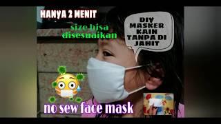 Cara membuat masker kain tanpa dijahit ...