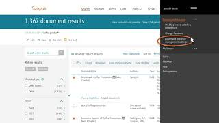 Scopus Tutorial: How to download and export your search results