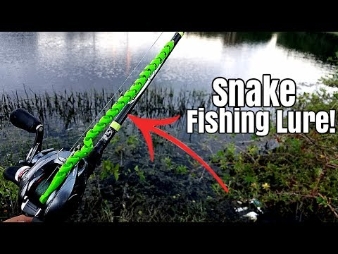 3D Printed Snake Fishing Lure Catches Fish!!! DIY Fishing Challenge!