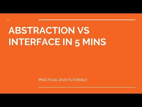 ABSTRACTION VS INTERFACE IN 5 MINS
