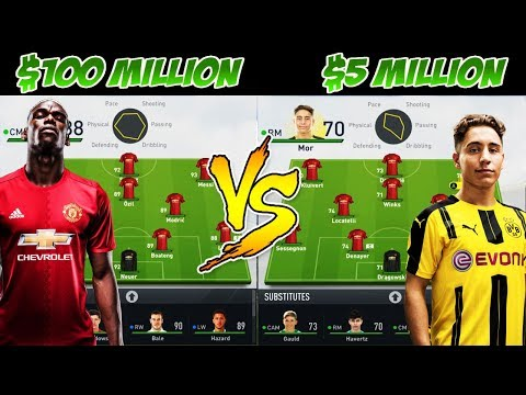 💰 $100 MILLION PLAYERS VS $5 MILLION PLAYERS! �🤔� FIFA 17 EXPERIMENT! NIPPLE SLAP FORFEIT?!