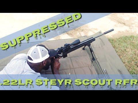 Suppressed Steyr Scout RFR 22LR