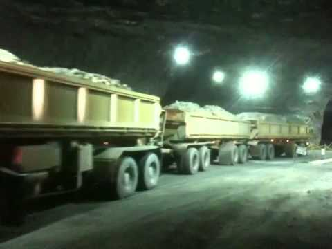 Detroit 60 Series >> Powertrans Underground Road Train - YouTube