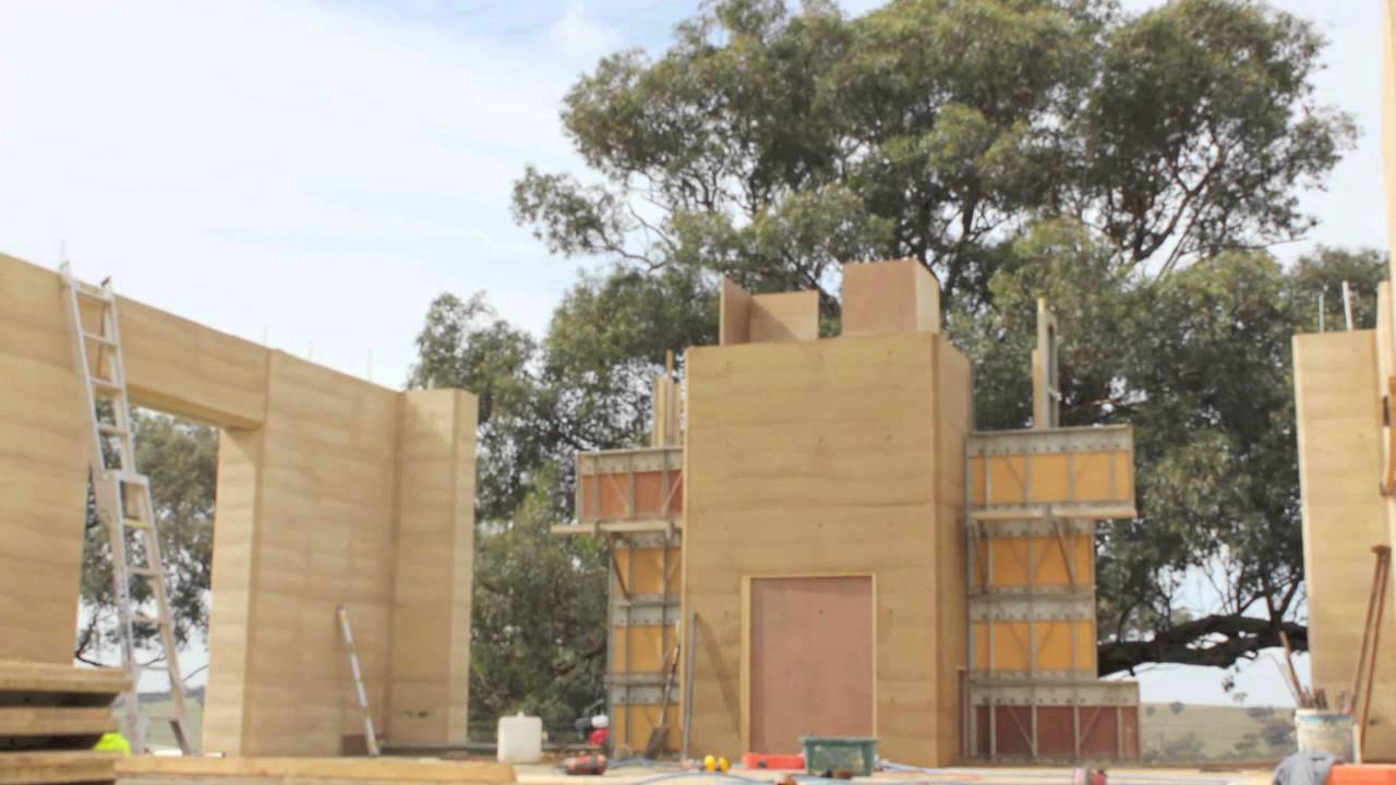 Awesome Rammed Earth Construction Timelapse