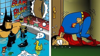 FUNNY「BATMAN vs SUPERMAN」COMICS To Make You Laugh.