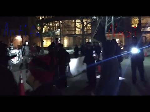 (Full Recording) CSU Antifa and Neo-Nazi Protest (9:00-9:40pm Friday 2/2/18)