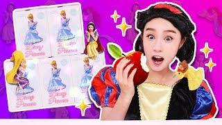 變身為白雪公主 迪士尼Princess 公主杯子公仔 隨機抽遊戲 服不服由你-基尼