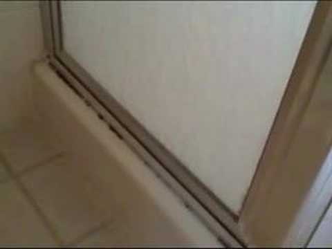 Leaking Shower Door - YouTube