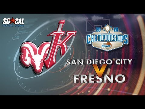CCCAA Men's Basketball Semifinal: San Diego City vs Fresno City - 3/10/18 - 5pm