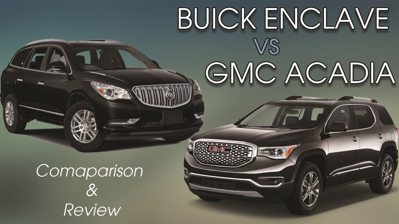Comparing The 2017 Buick Enclave Premium And Gmc Acadia Denali