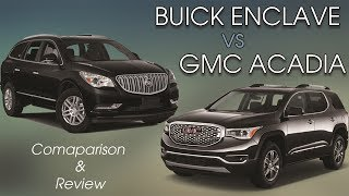 Comparing the 2017 Buick Enclave Premium and GMC Acadia Denali