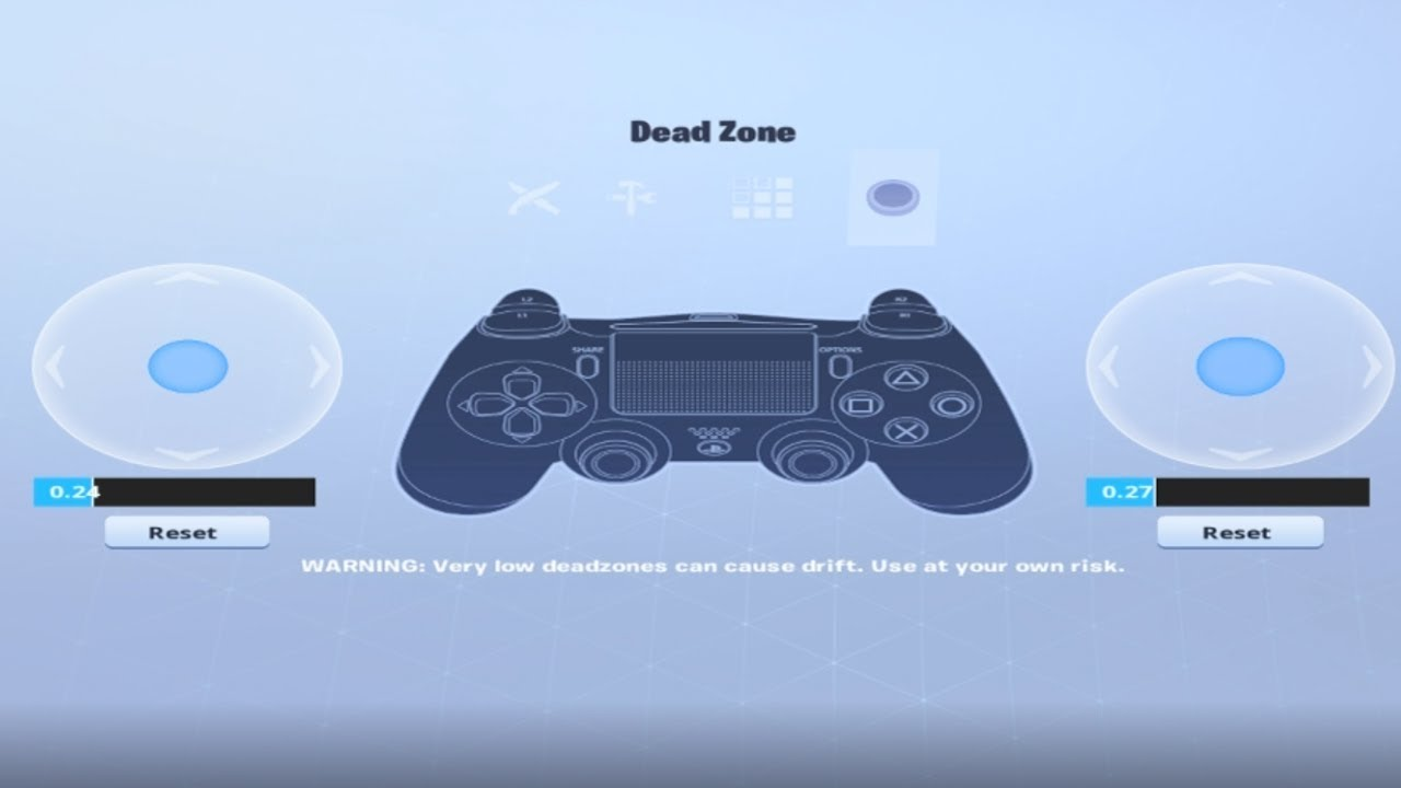 My Controller Deadzone Settings / My Controller Deadzone