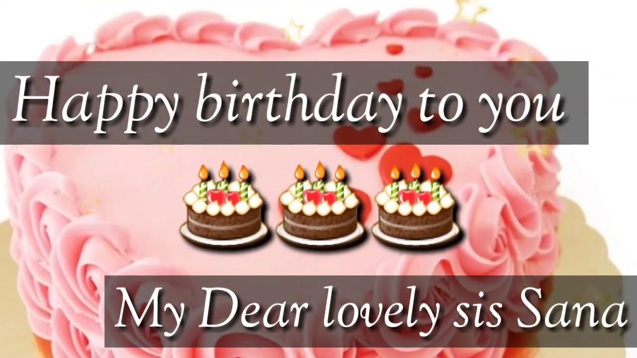 Happy Birthday Sana Name WhatsApp Status 🎂🎂🎂🎂
