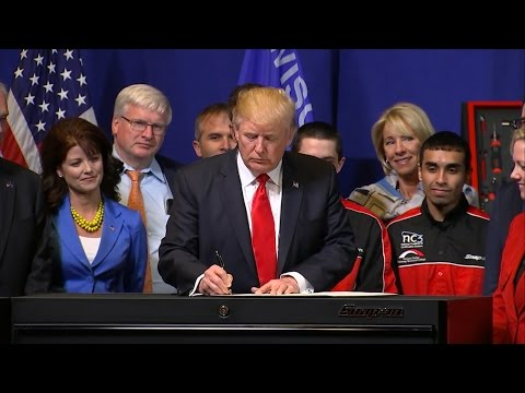 President Donald Trump full spech from Kenosha, Wisconsin Snap-on Tools headquarters 4/18/2017